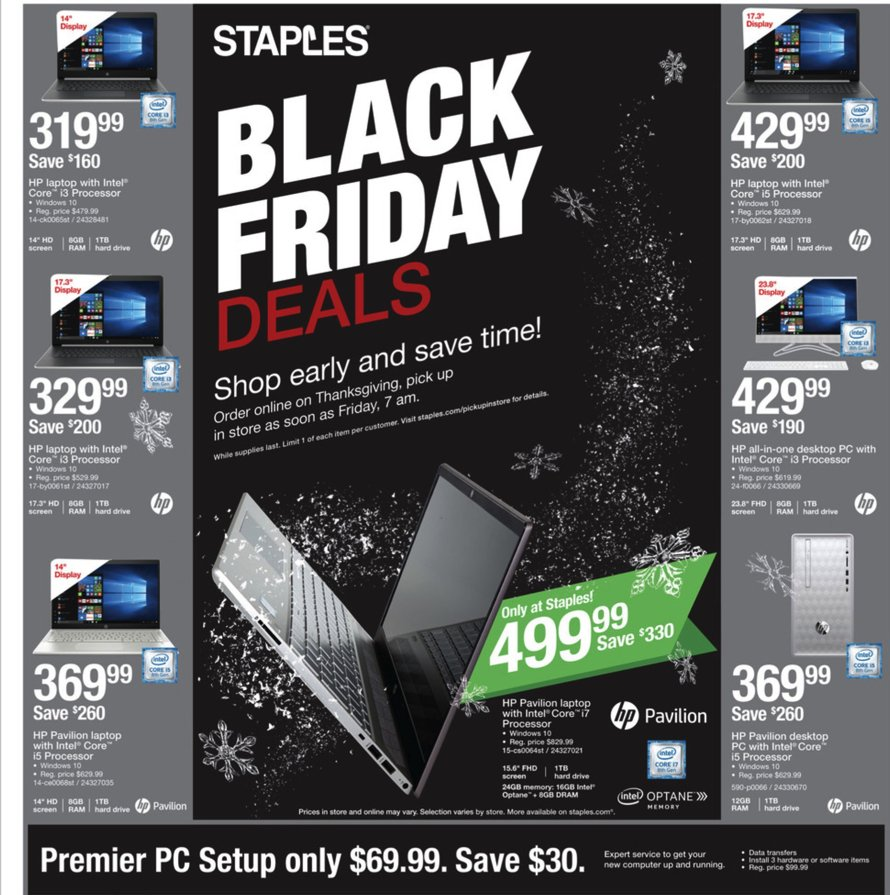 Staples Black Friday 2018 Page 1