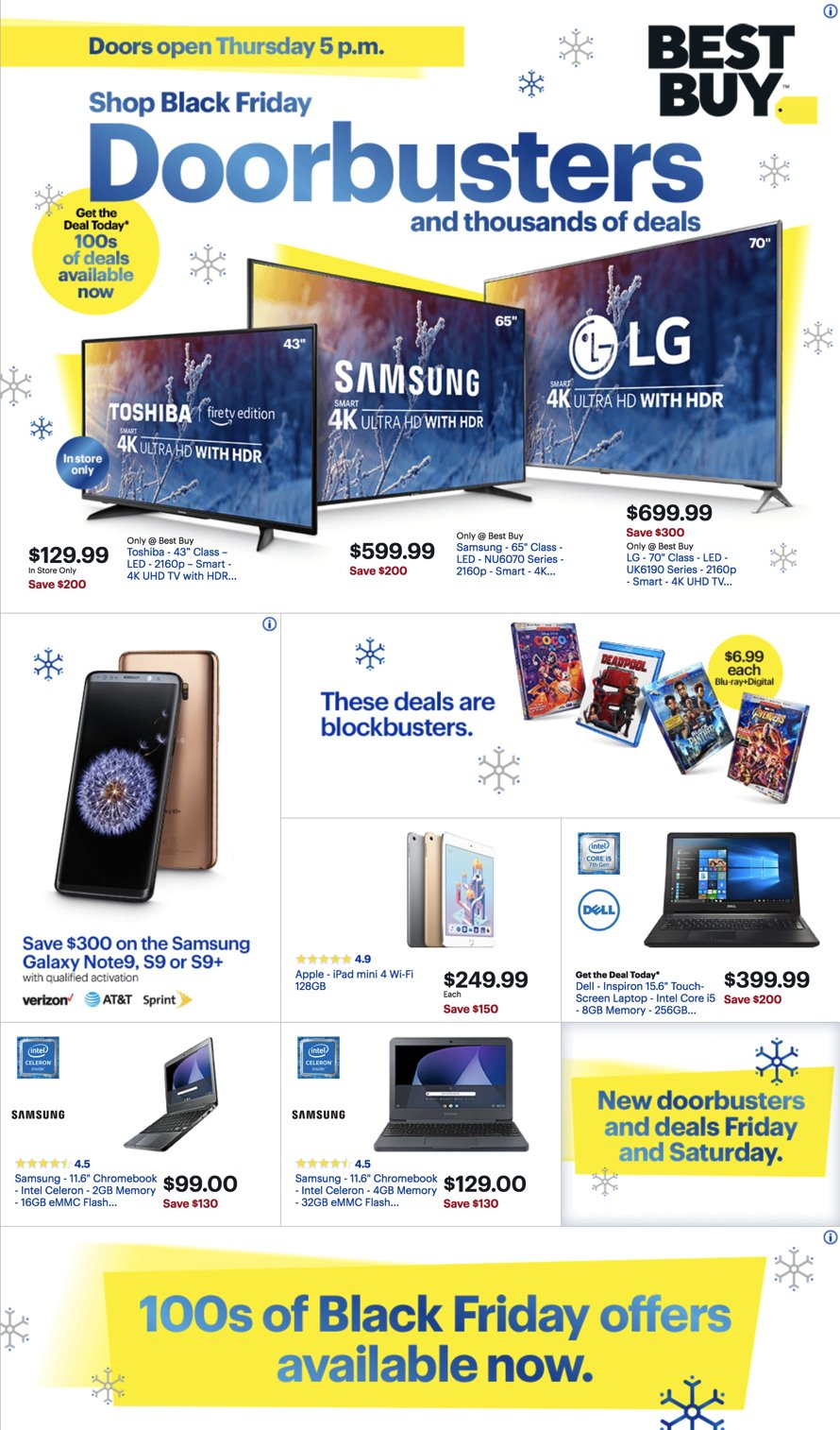 Best Buy Black Friday 2018 Ad, Deals and Sales - Savings com