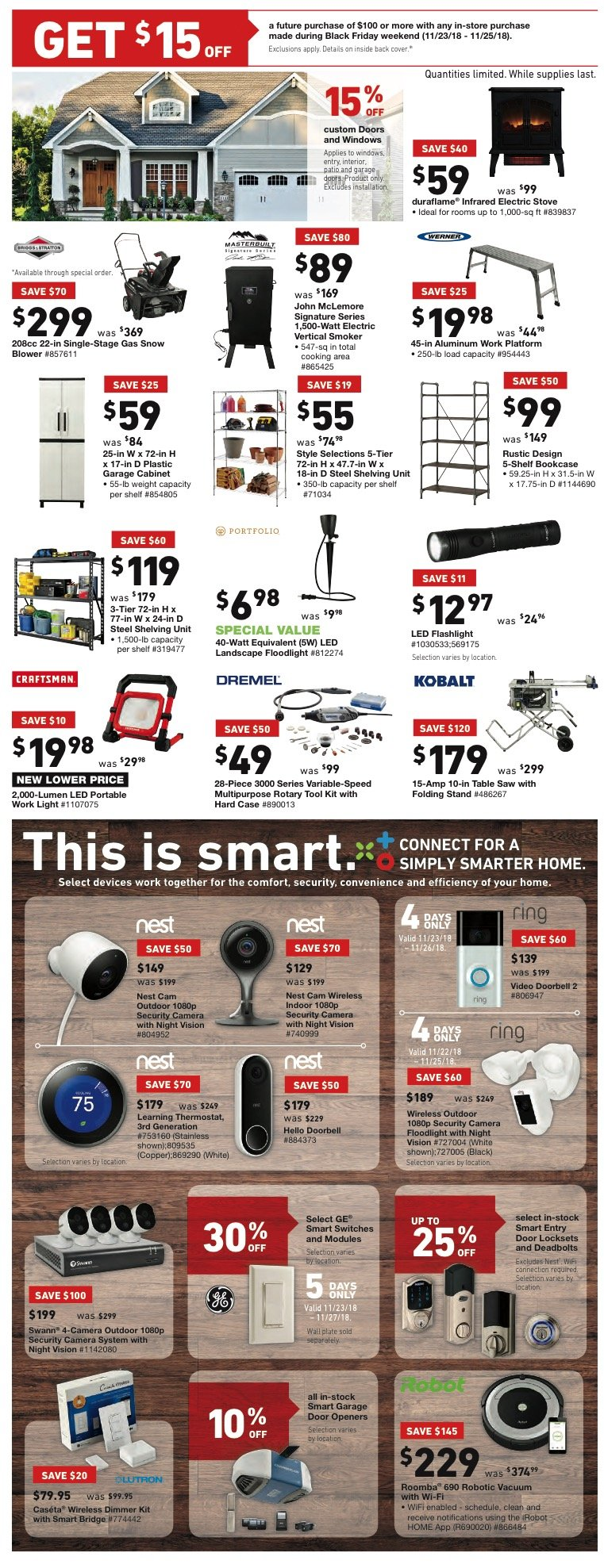 Lowe S Black Friday 2018 Ad Deals And Sales Savings Com