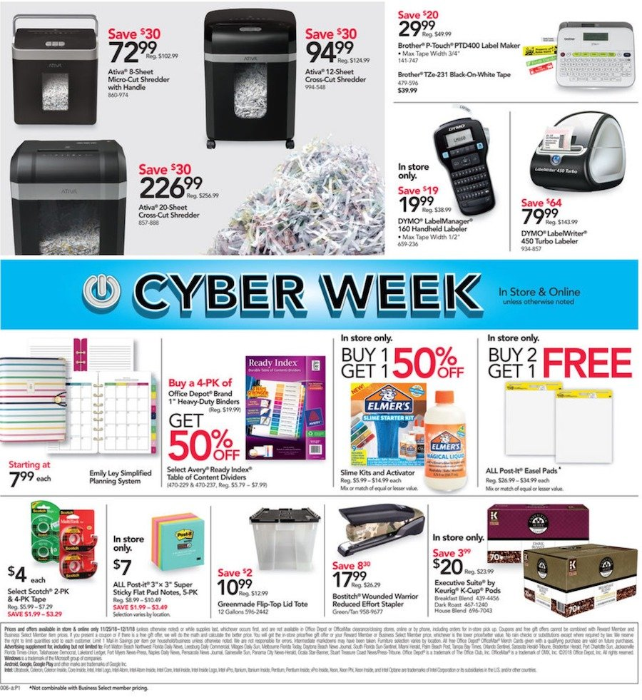 Fabulous Office Depot Officemax Cyber Monday 2019 Ad Savings Com Alphanode Cool Chair Designs And Ideas Alphanodeonline