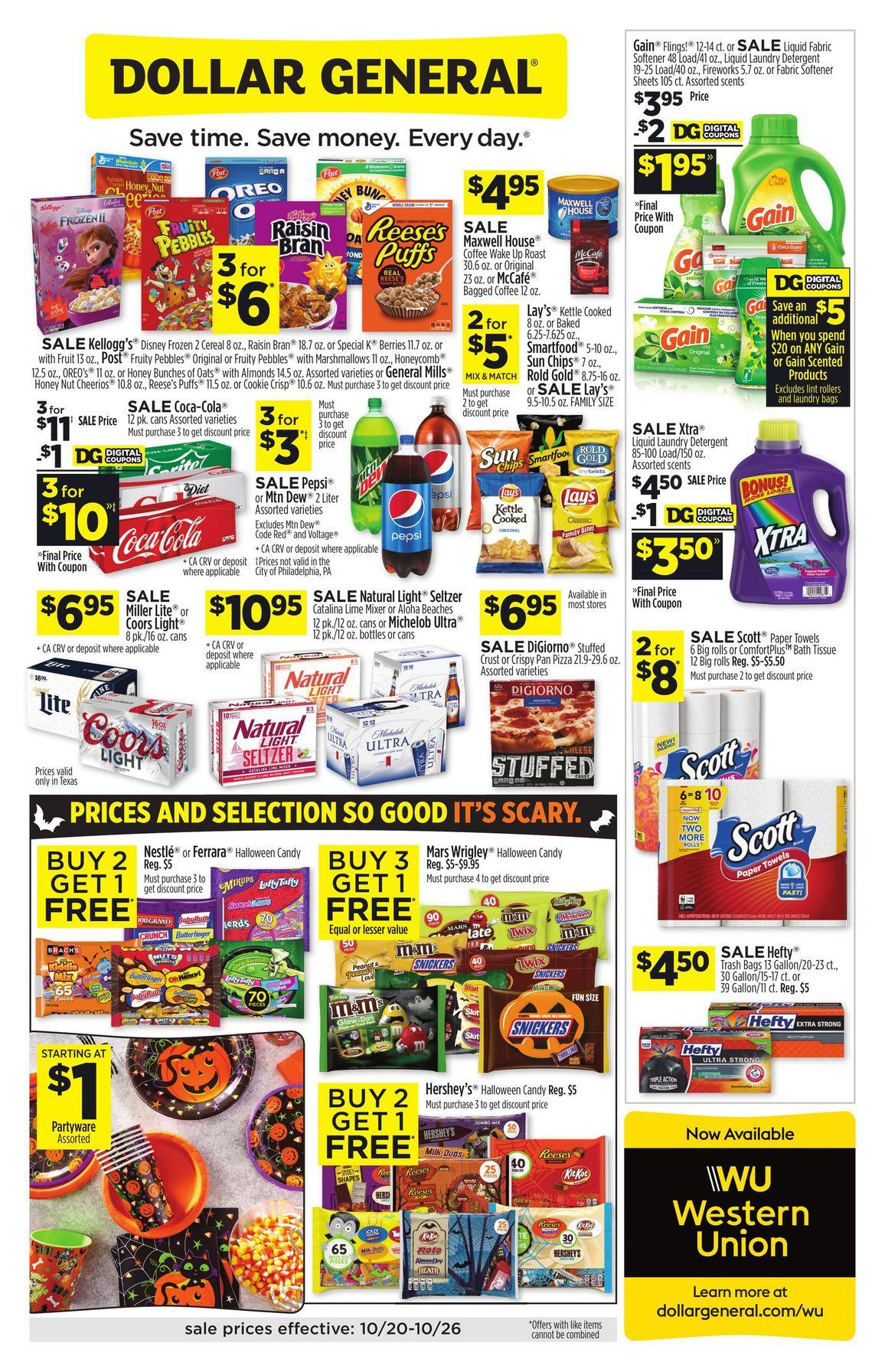 Dollar General Weekly October 20 - 26, 2019 Page 1