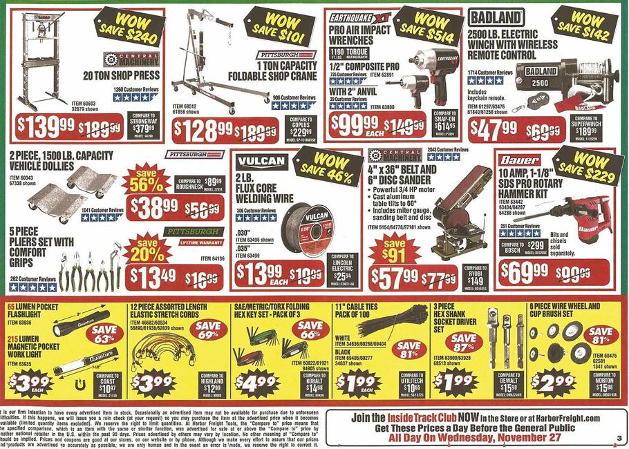 Harbor Freight Black Friday 2019 Page 6