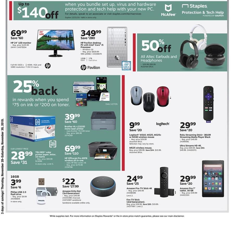 Staples Black Friday 2019 Page 2