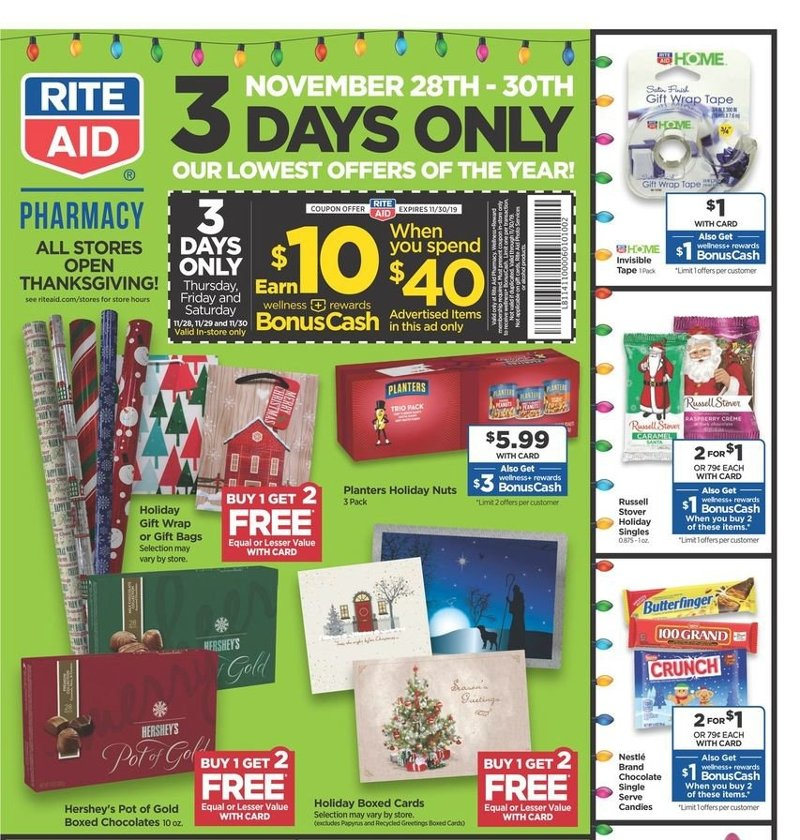 Rite Aid Black Friday 2019 Page 1