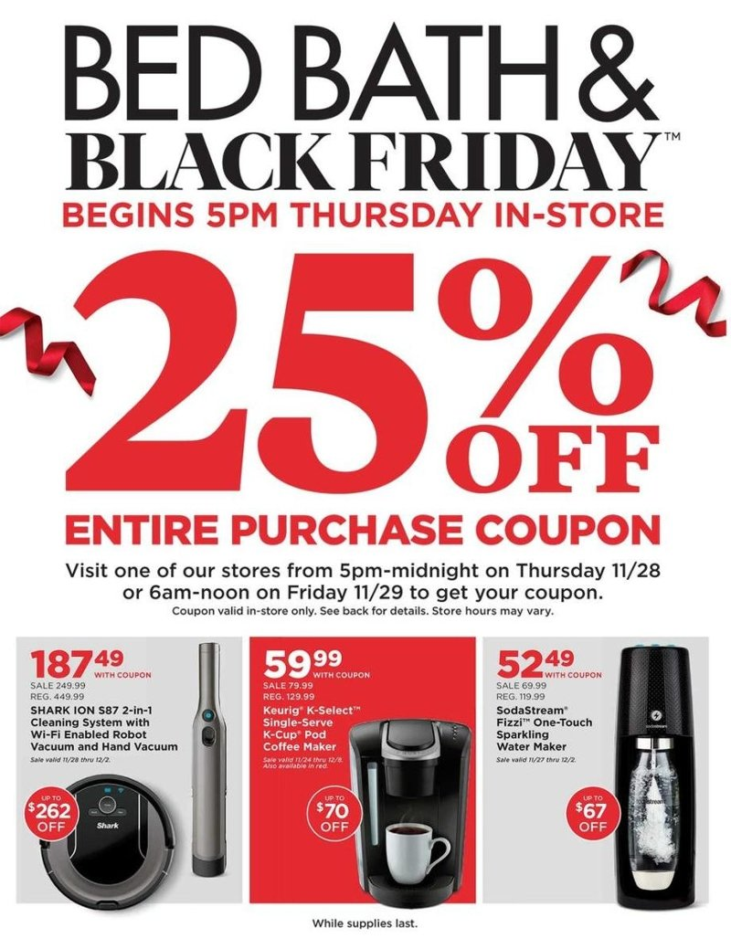 Bed Bath & Beyond Black Friday 2019 Page 1