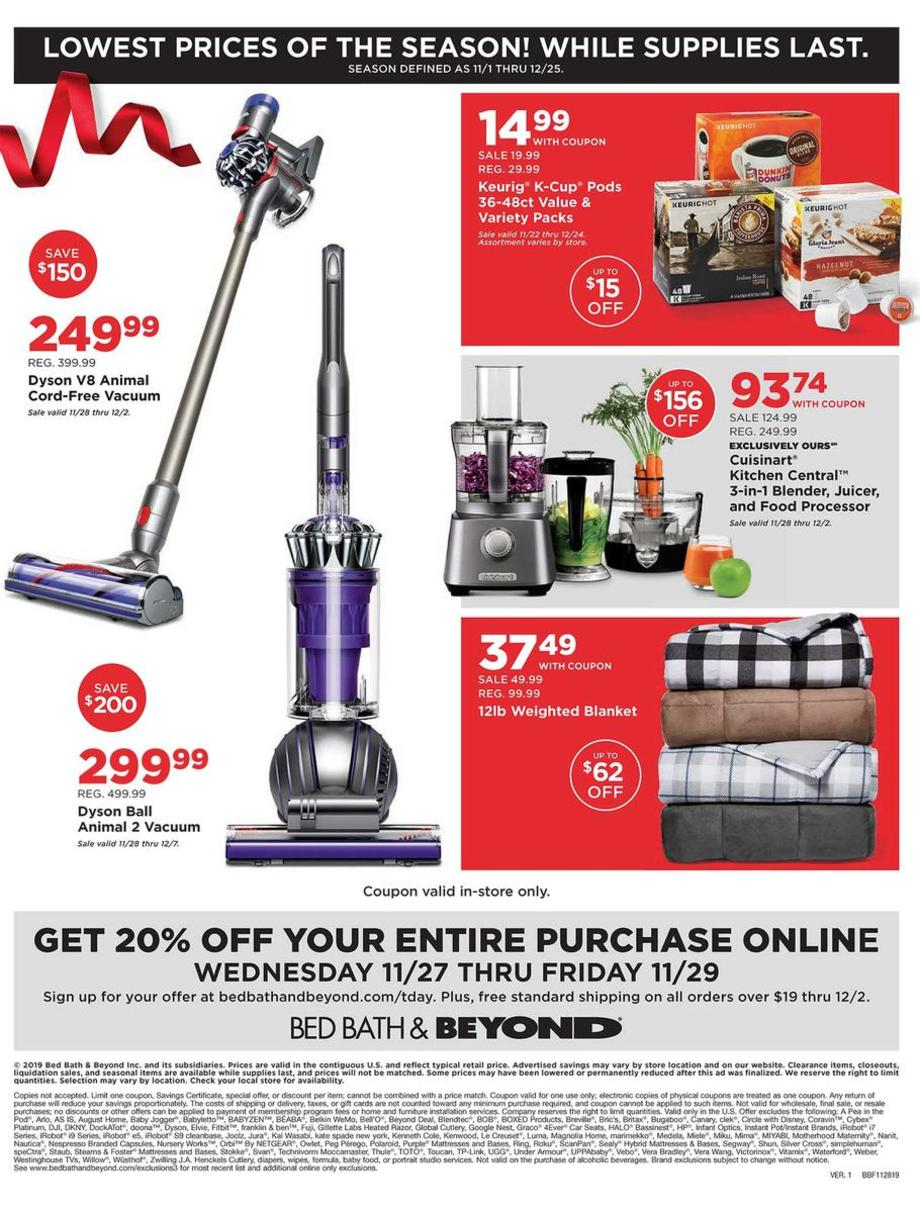 Bed Bath & Beyond Black Friday 2019 Page 4