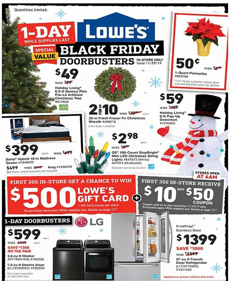 Lowe's Black Friday 2019 Page 1