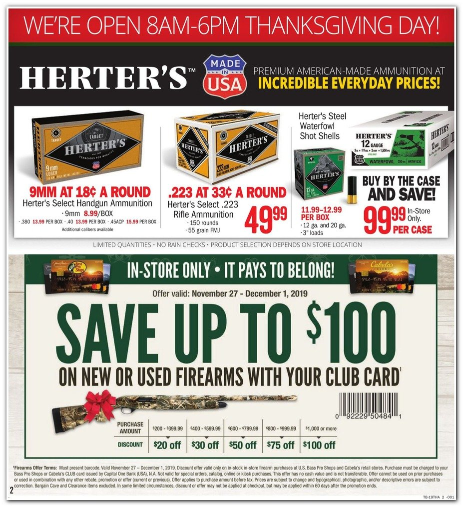 Bass Pro Shops and Cabela's Black Friday 2019 Page 2