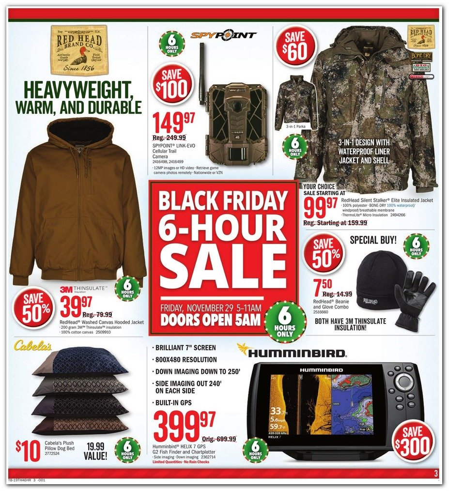 Bass Pro Shops and Cabela's Black Friday 2019 Page 3