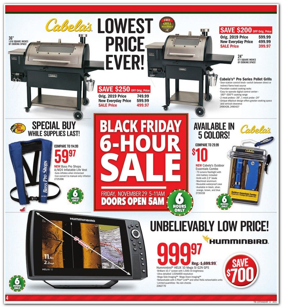 Bass Pro Shops and Cabela's Black Friday 2019 Page 4