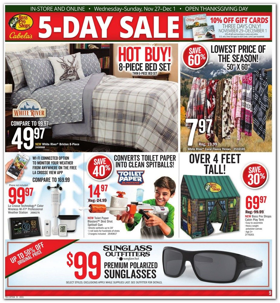 Bass Pro Shops and Cabela's Black Friday 2019 Page 9