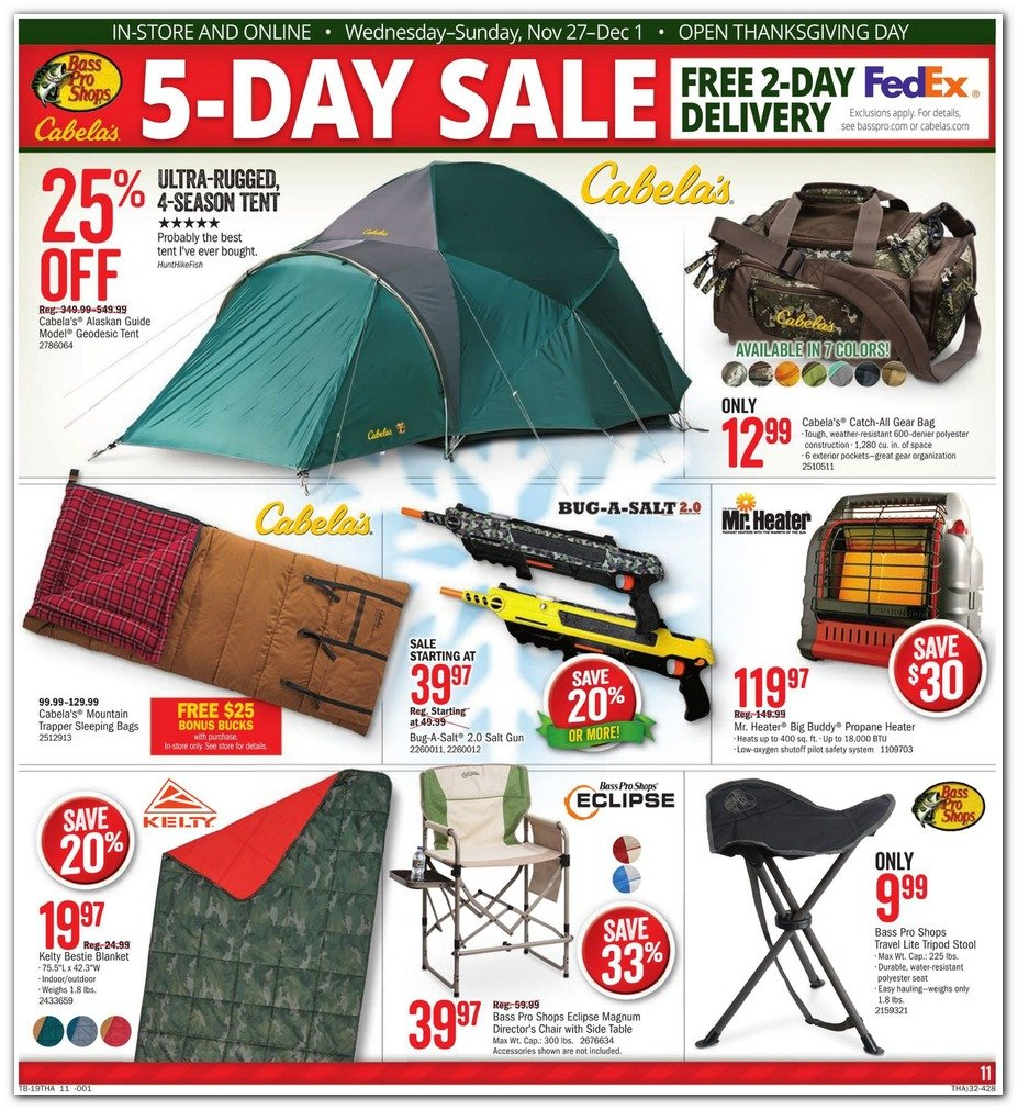 Bass Pro Shops and Cabela's Black Friday 2019 Page 11