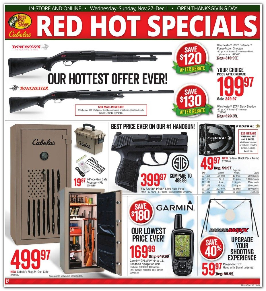 Bass Pro Shops and Cabela's Black Friday 2019 Page 12