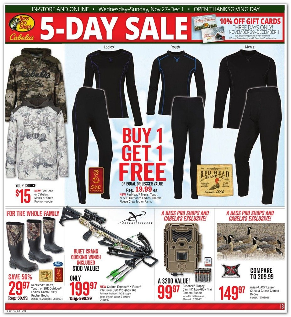 Bass Pro Shops and Cabela's Black Friday 2019 Page 13