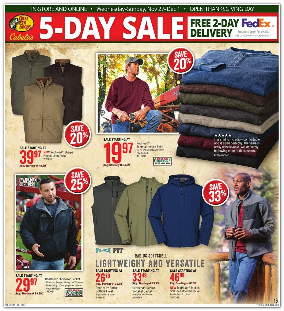 Bass Pro Shops and Cabela's Black Friday 2019 Page 15