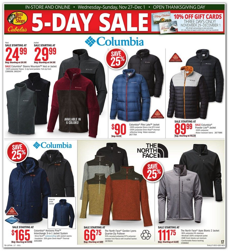 Bass Pro Shops and Cabela's Black Friday 2019 Page 17