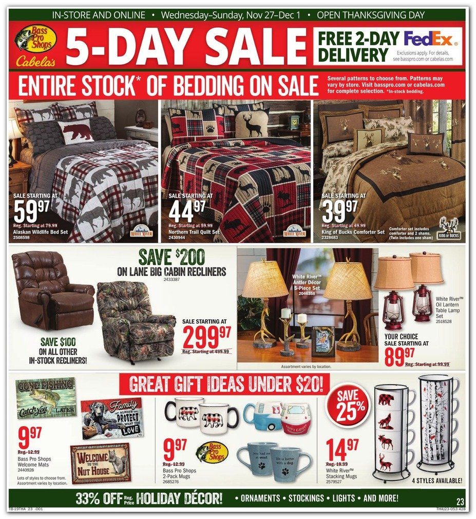 Bass Pro Shops and Cabela's Black Friday 2019 Page 23
