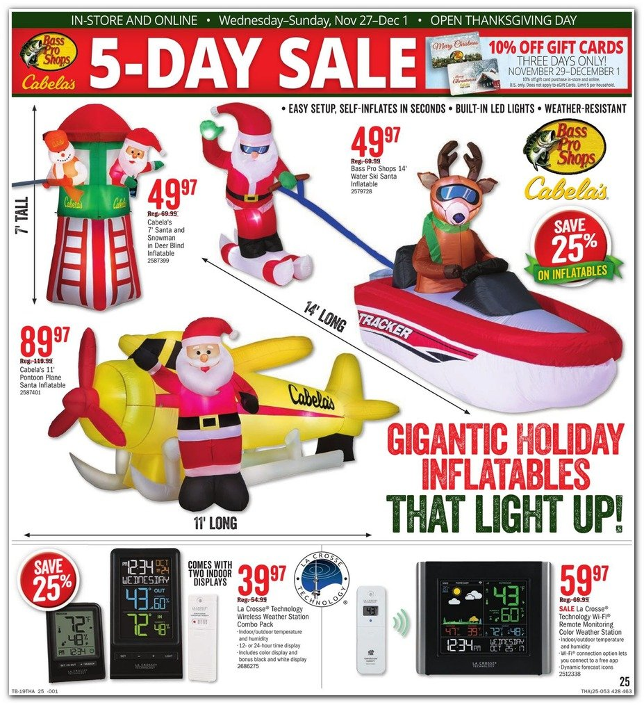 Bass Pro Shops and Cabela's Black Friday 2019 Page 25