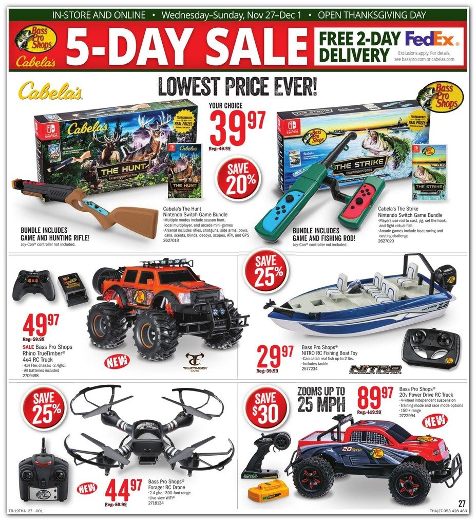 Bass Pro Shops and Cabela's Black Friday 2019 Page 27