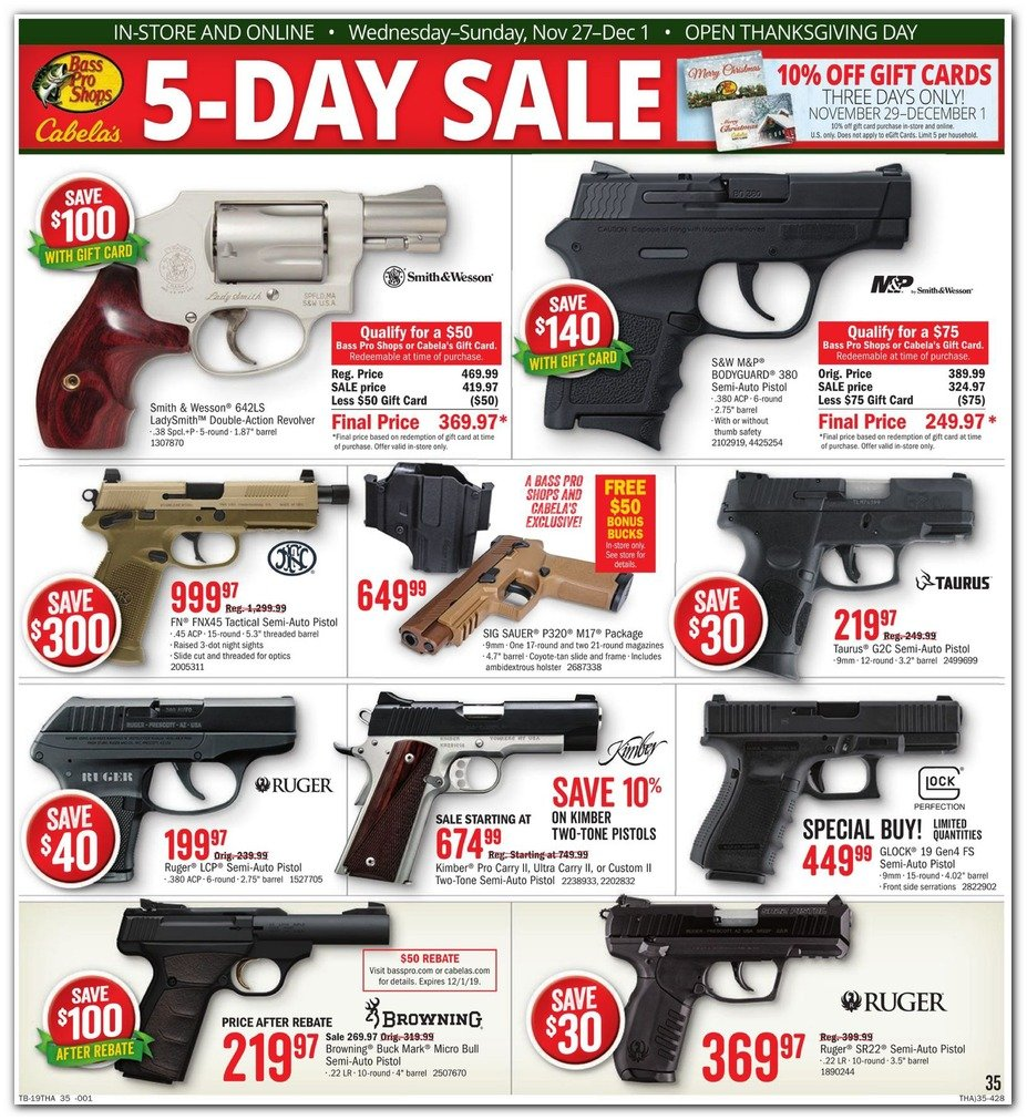 Bass Pro Shops and Cabela's Black Friday 2019 Page 37