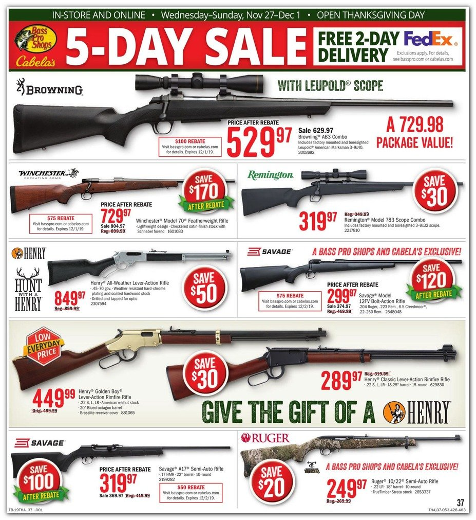 Bass Pro Shops and Cabela's Black Friday 2019 Page 39