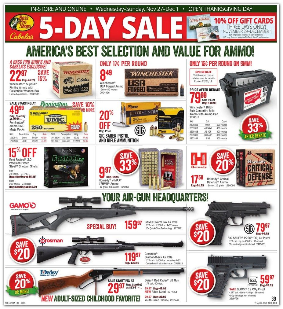 Bass Pro Shops and Cabela's Black Friday 2019 Page 41