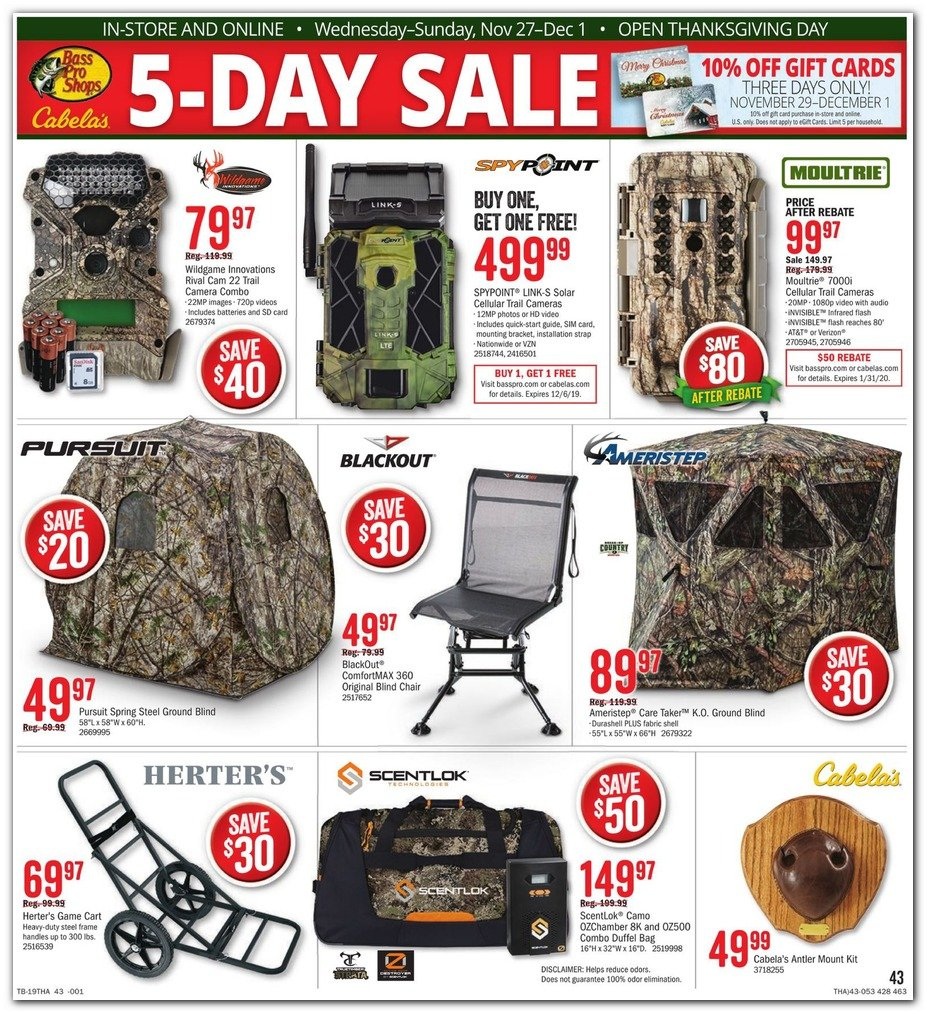 Bass Pro Shops and Cabela's Black Friday 2019 Page 45