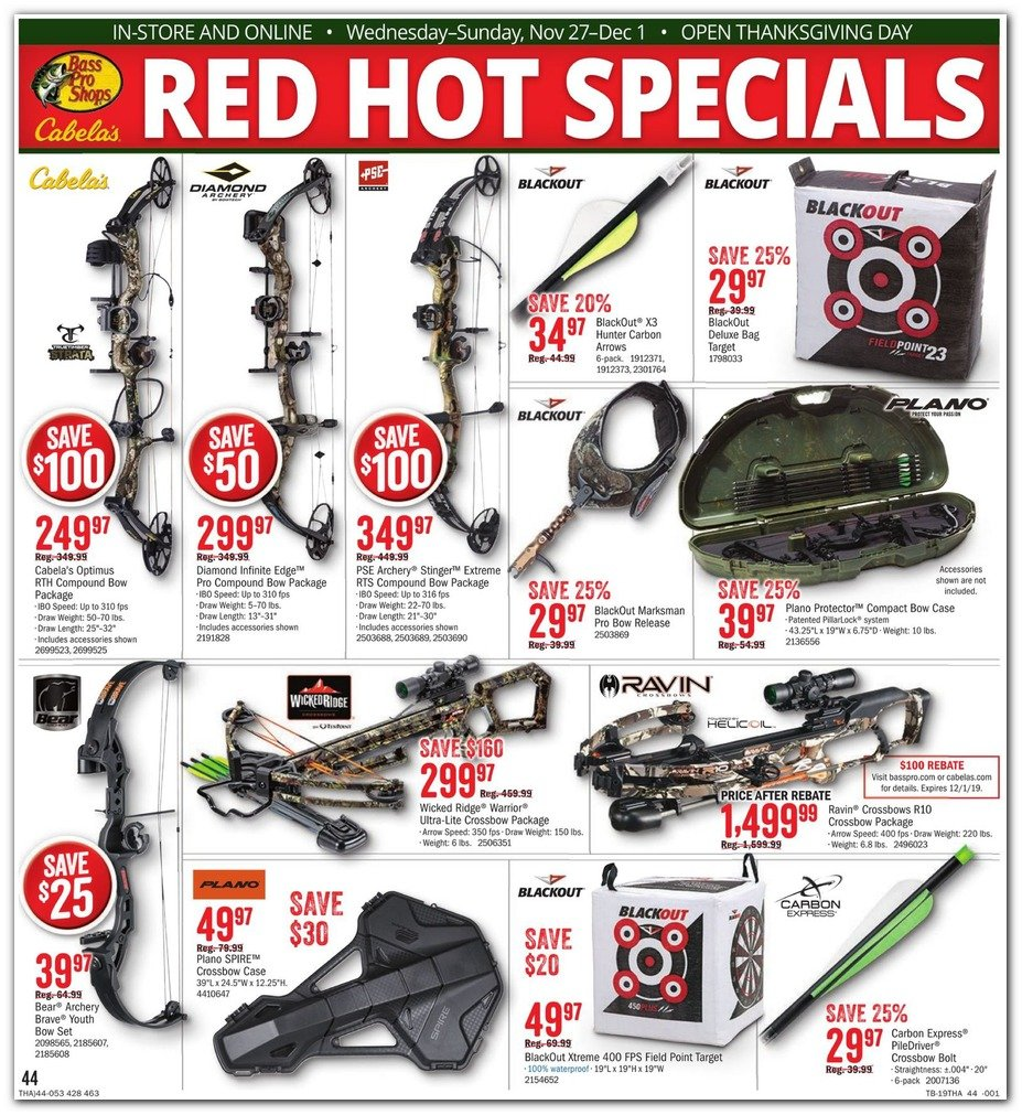 Bass Pro Shops and Cabela's Black Friday 2019 Page 46