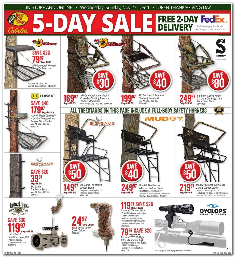 Bass Pro Shops and Cabela's Black Friday 2019 Page 47