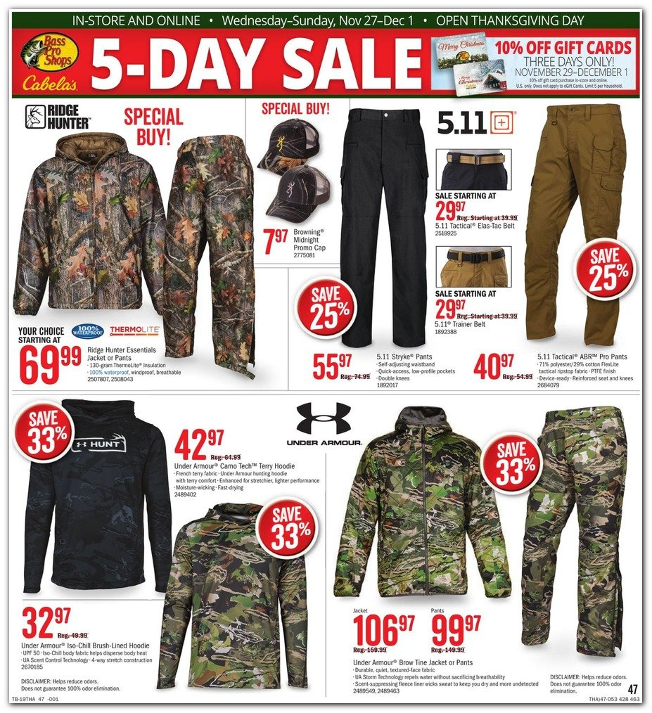 Bass Pro Shops and Cabela's Black Friday 2019 Page 49