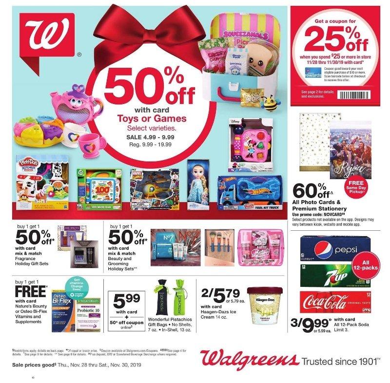 Walgreens Black Friday 2019 Page 1