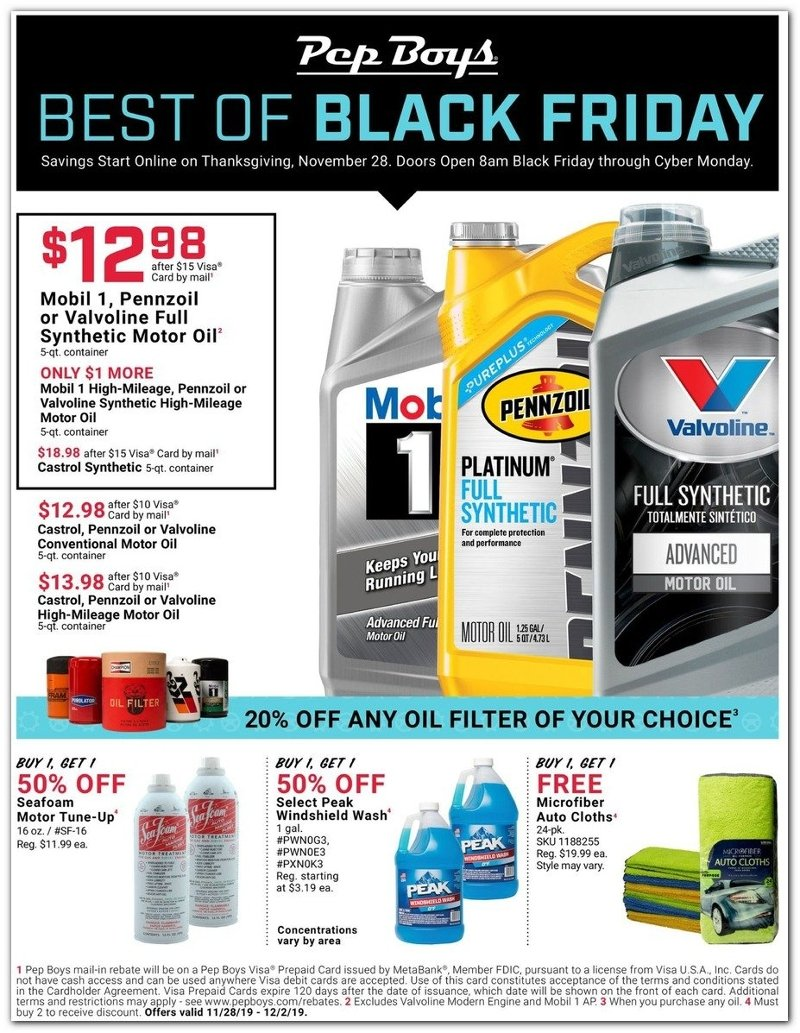 Pep Boys Black Friday 2019 Page 1