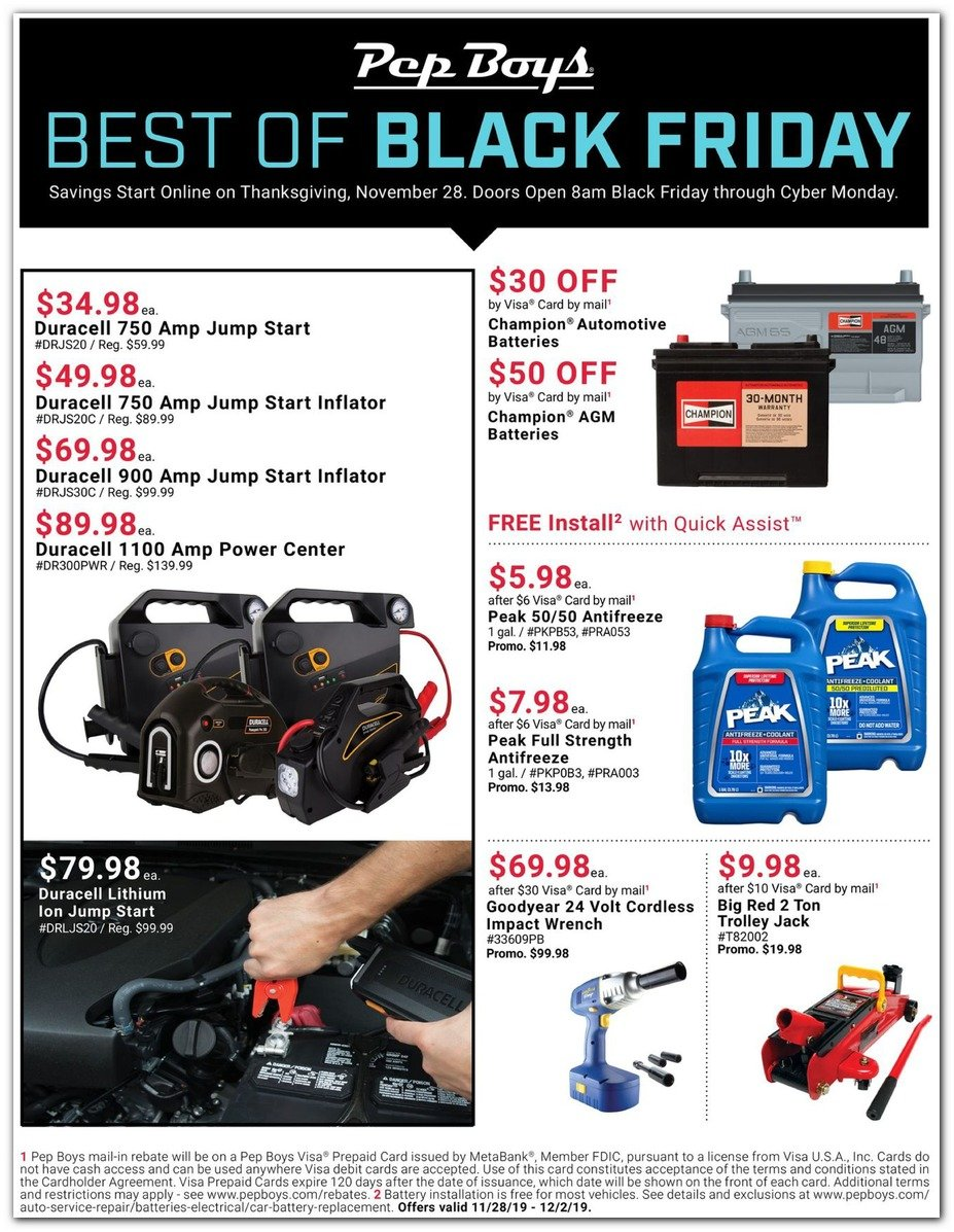 Pep Boys Black Friday 2019 Page 2