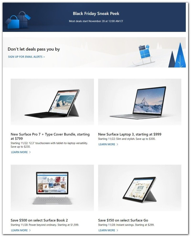 Microsoft Black Friday 2019 Page 1