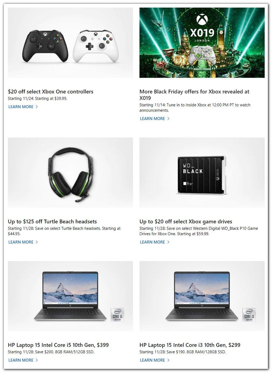 Microsoft Black Friday 2019 Page 2