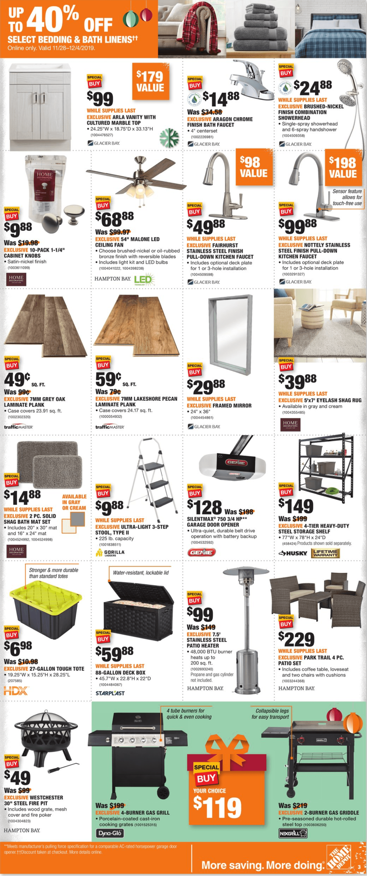 Home Depot Black Friday 2019 Page 3