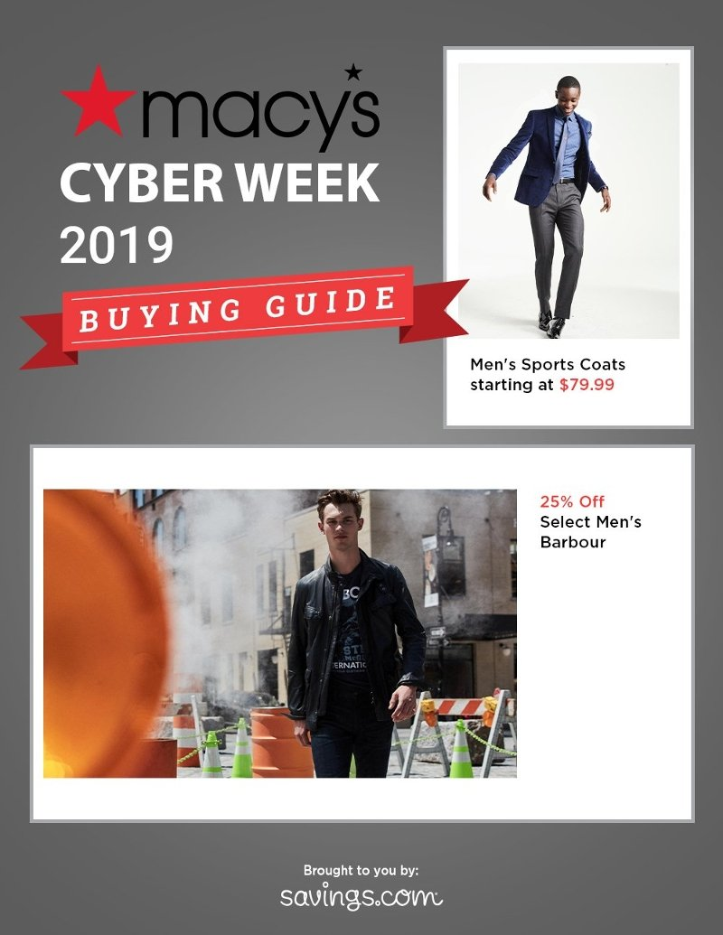 Macy's Cyber Week Buying Guide 2019 Page 1