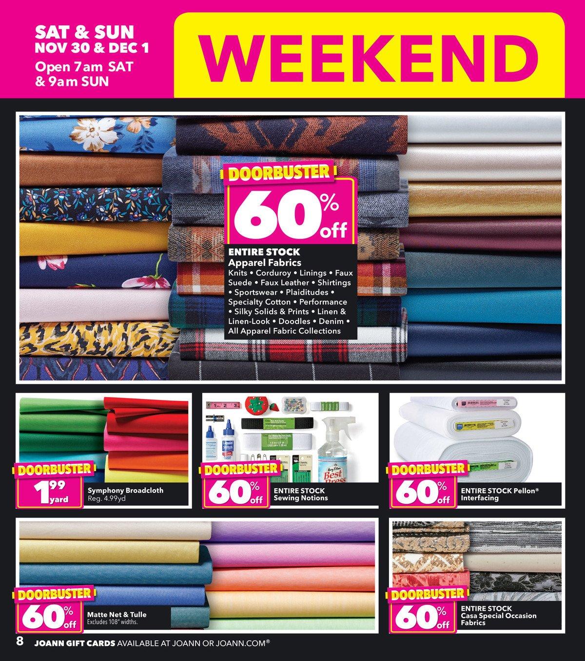 Joann Fabrics Black Friday 2019 Page 8