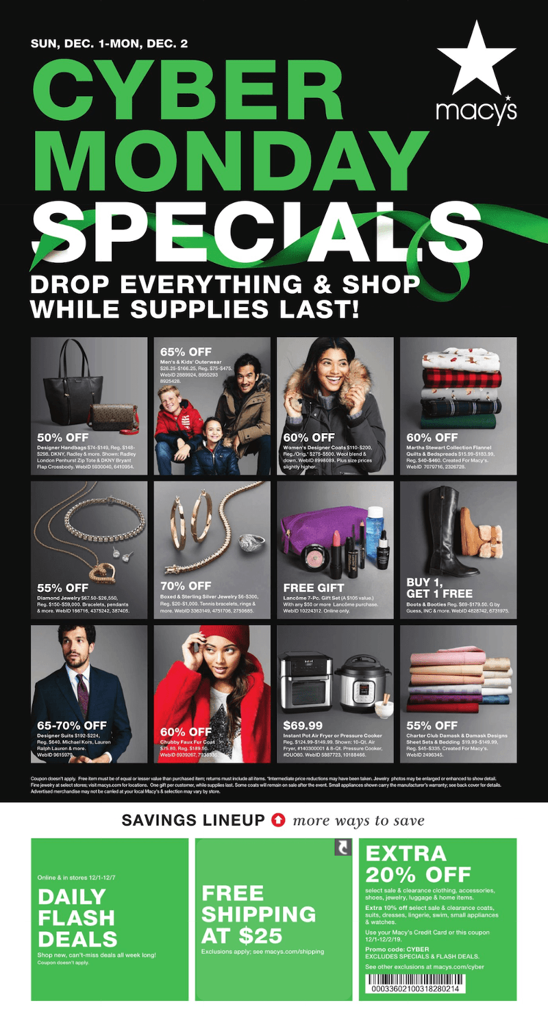 Macy's Cyber Monday 2019 Page 1