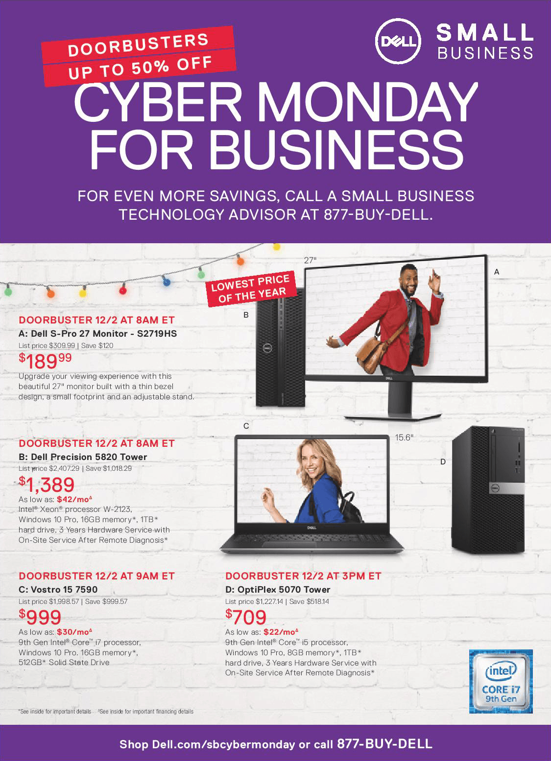 Dell Small Business Cyber Monday 2019 Page 4