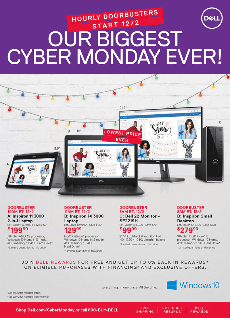 Dell Cyber Monday 2019 Page 1