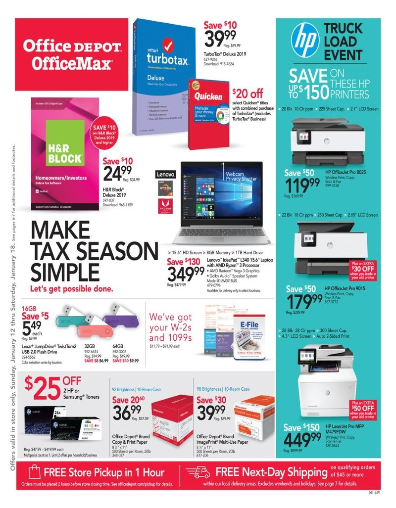 Office Depot and OfficeMax Weekly January 12 - 18, 2020 Page 1