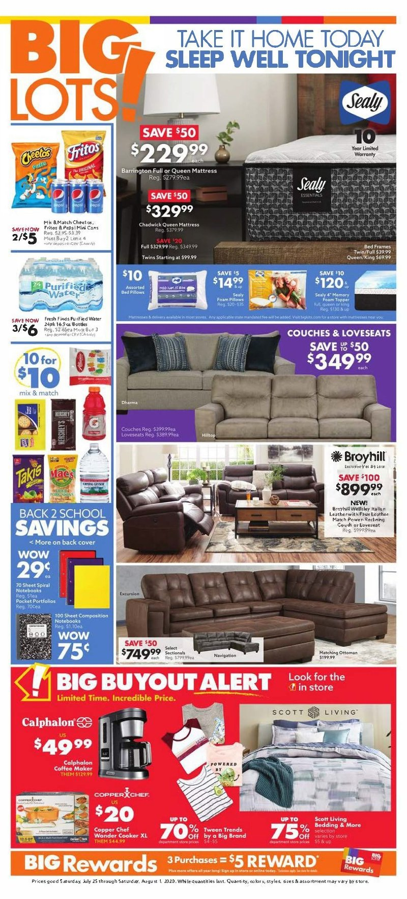 Big Lots Weekly July 25 - August 1, 2020 Page 1