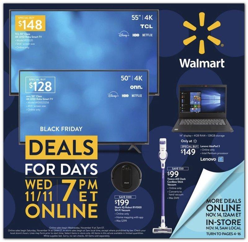 Walmart Black Friday November 11 - 15, 2020 Page 1