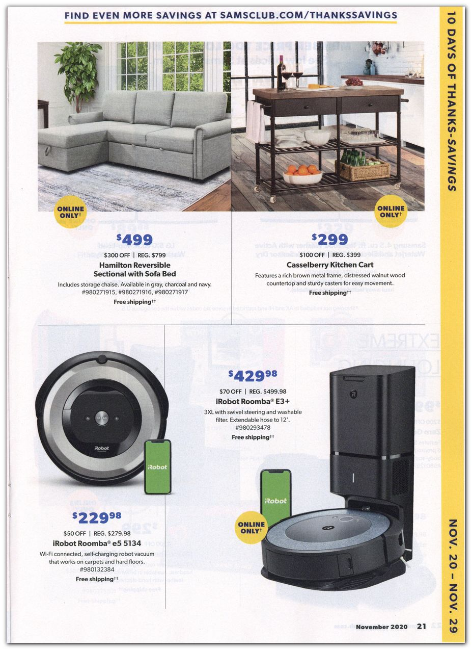 Sam's Club Black Friday 2020 Page 3