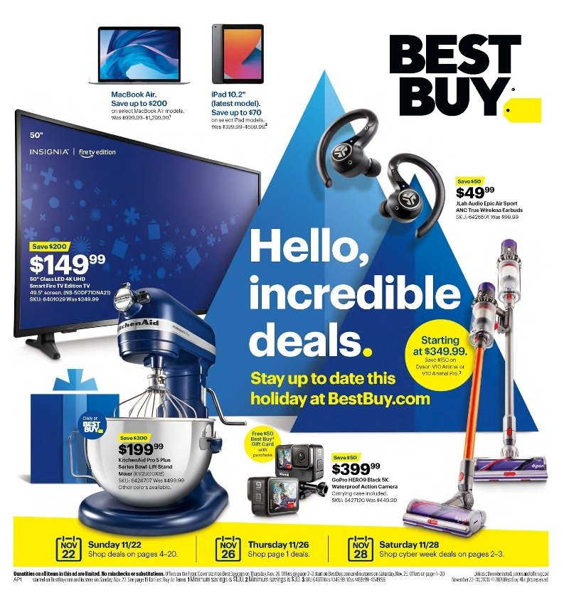 Best Buy Black Friday 2020 Page 1