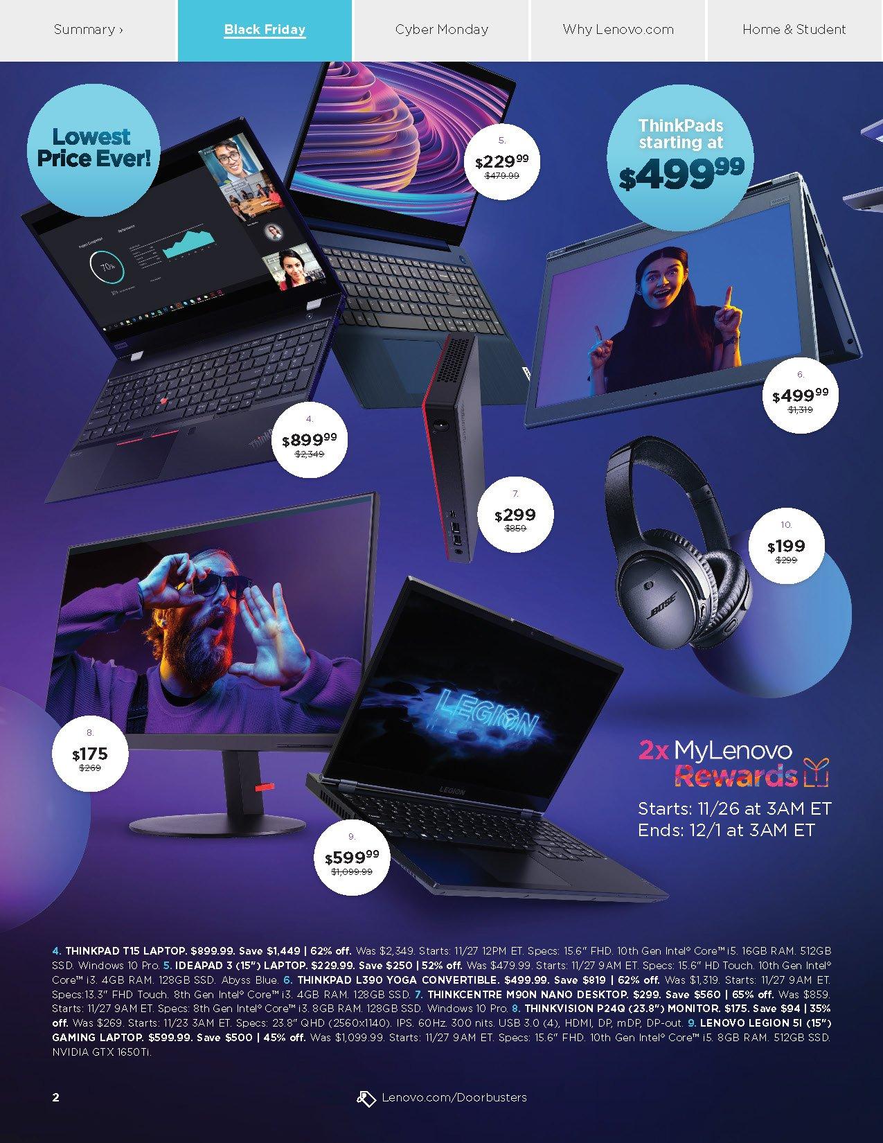 Lenovo Black Friday 2020 Page 2