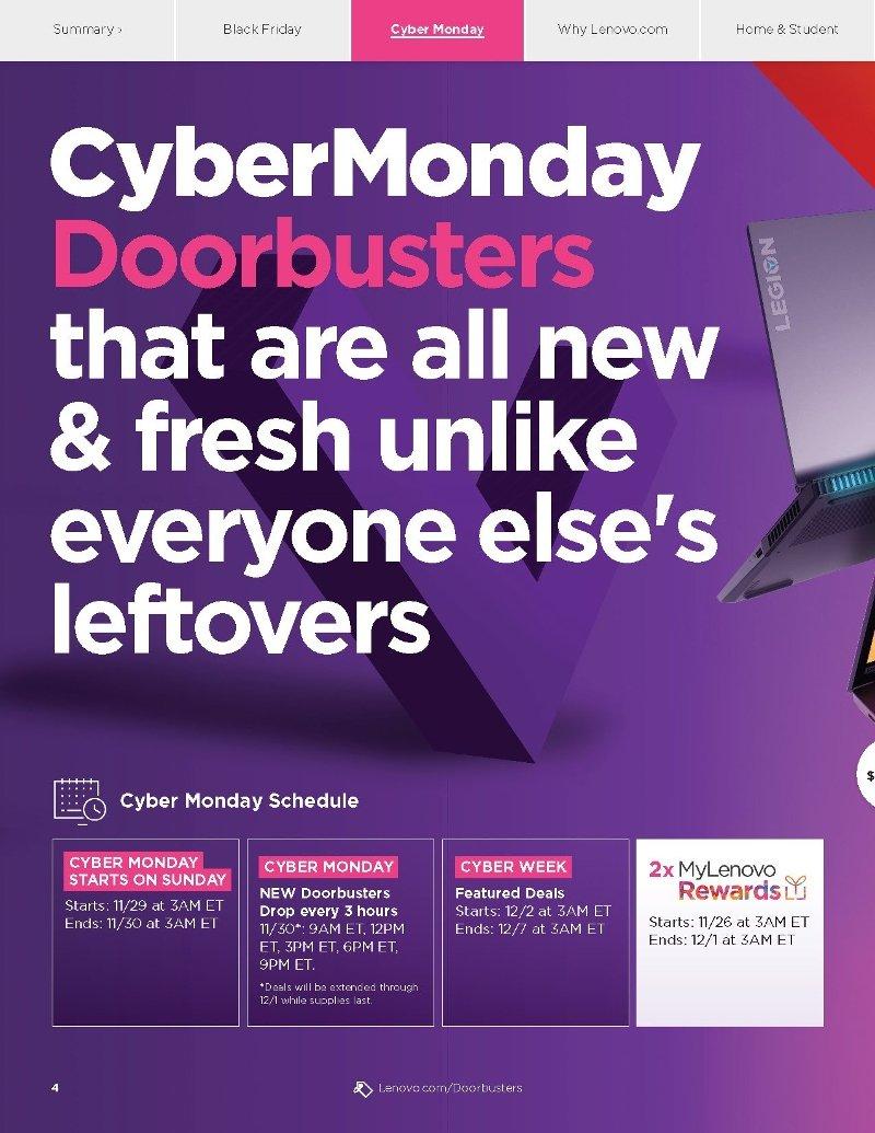 Lenovo Cyber Monday 2020 Page 1