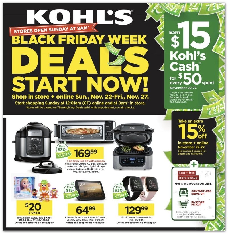 Kohl's Black Friday 2020 Page 1