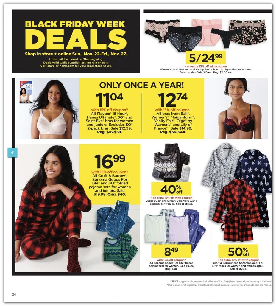 Kohl's Black Friday Super Deals 2020 Page 24
